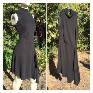 WHBM Sleeveless Asymmetrical Hem Dress LBD